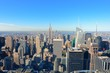 Aerial New York City Skyline at Midtown Manhattan