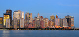 Panorama of Downtown New York City at the Financial District