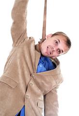 businessman hung oneself