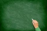 Blank Chalk Blackboard / Chalkboard writing hand