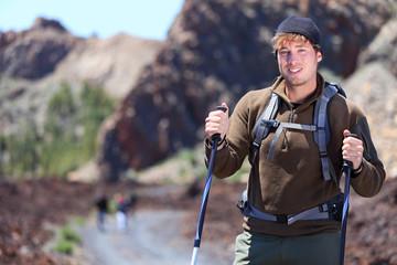 Adventure hiking man