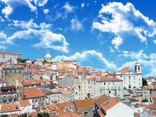 Cidade de Lisboa num dia fantástico