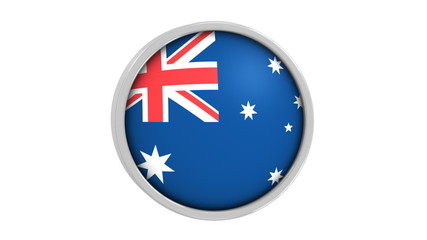 Australian flag with circular frame