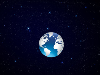 World From Space  Graphic