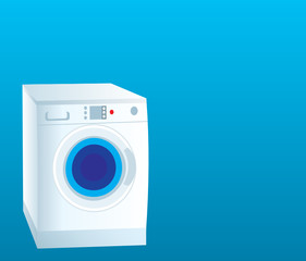 Washing machine. Vector. Gradient
