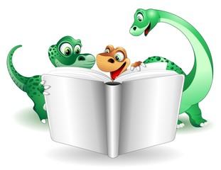 Dinosauro e Libro di Scuola-Baby Dino with School Book