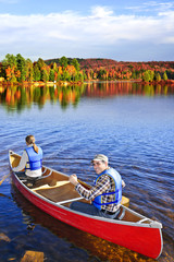 Canoeing in fall