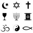 Religios symbols icons
