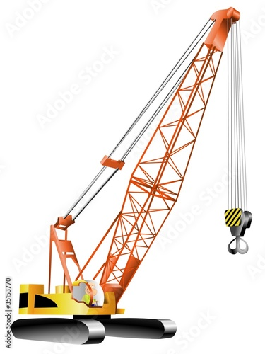 happy man working on crane