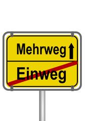 Schild Mehrweg