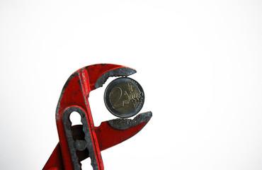 Euro Zange Hartgeld