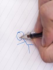 Doodle stick man