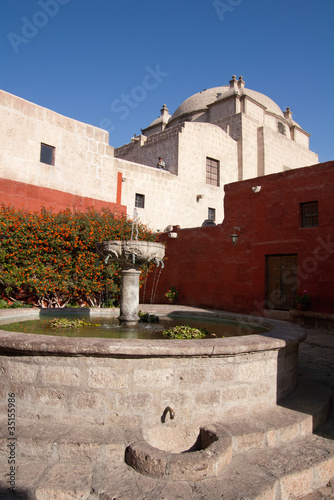 Santa Catalina Monastery fountain