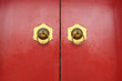 red door and door knockers