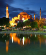 Hagia Sophia with reflection - Istanbul, Turkey
