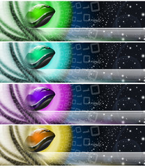 Collection of technological banners