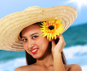Pretty Girl In A Straw Hat