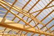 Leinwanddruck Bild - Poutres de toit