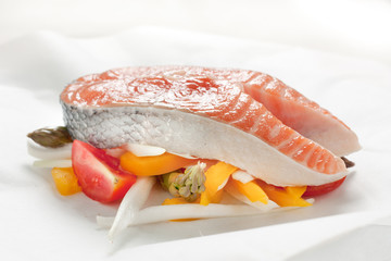 Salmon Papillote with Vegetables