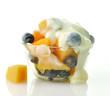 Closeup of Fruits with yogurt