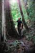 man in borneo jungle