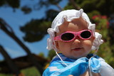 Cute baby girl with sunglasses