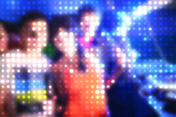 People in Night Club Abstract Dotted background