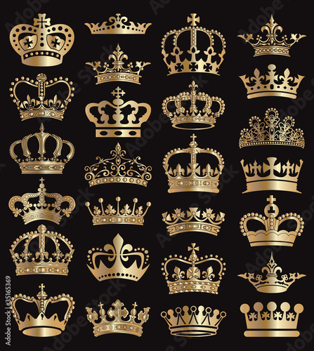 Crowns vector collection - 35165369