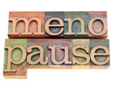 menopause word in letterpress type poster
