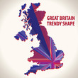 Great Britain trendy shape