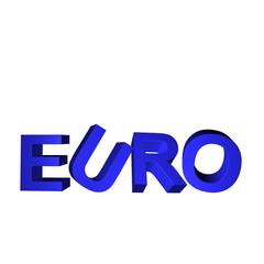 euro blau 3d