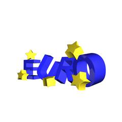 wackeliger euro mit sternen in 3d