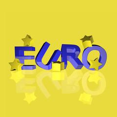 euro mit sternen 3d