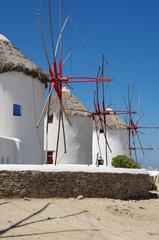 Moulins à vent sur Mykonos