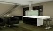 Wohndesign - schwarze Küche im Loft 2