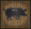 Blackboard pig restaurant menu card