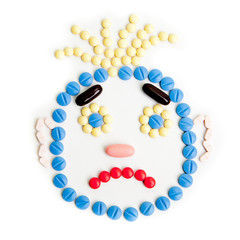pills smiley face