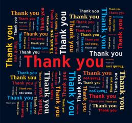 Nuage de Mots en Anglais - Merci / Thank you