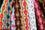 Chiapas Mexico handcrafts belts colorful bracelets poster