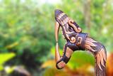 Chichen Itza Snake symbol wood handcraft Mexico poster
