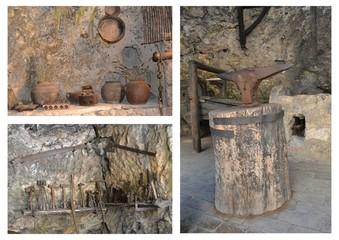 Antichi utensili per la lavorazione artigianale