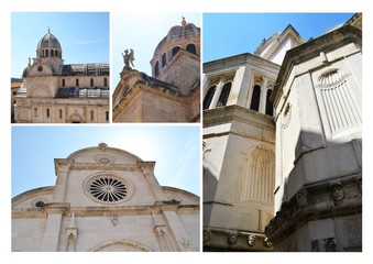 Monumental dome of the Cathedral of Sibenik, Croatia
