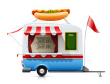 trailer fast food hot dog