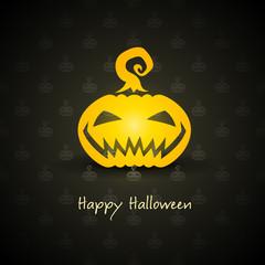 pumpkin for halloween on background