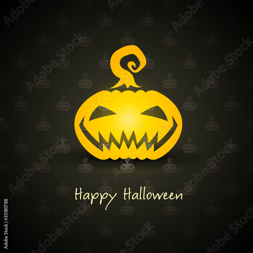 pumpkin for halloween on background