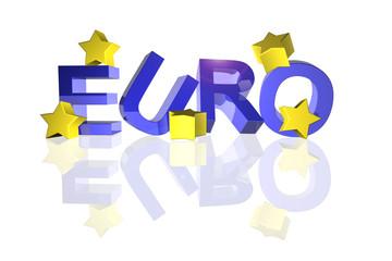 euro mit gefallenen sternen 3d