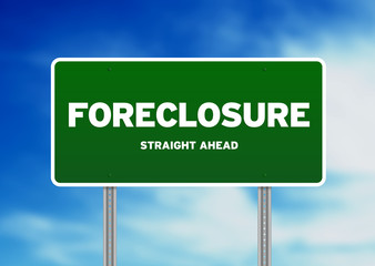 Green Road Sign - Foreclosure