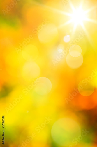 Art abstract autumn background