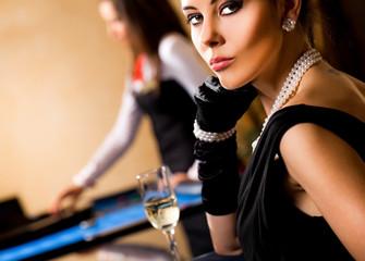 Beautiful female casino