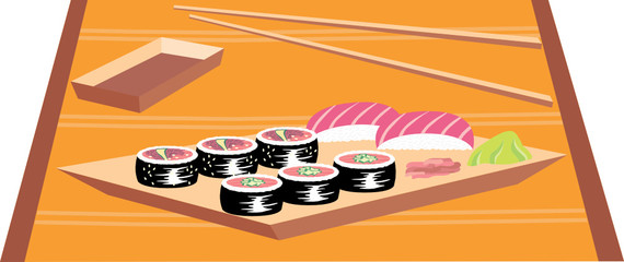 Sushi. Vector illustration